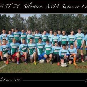 TAST 21 Sélection  M14 Saône et Loire 2015