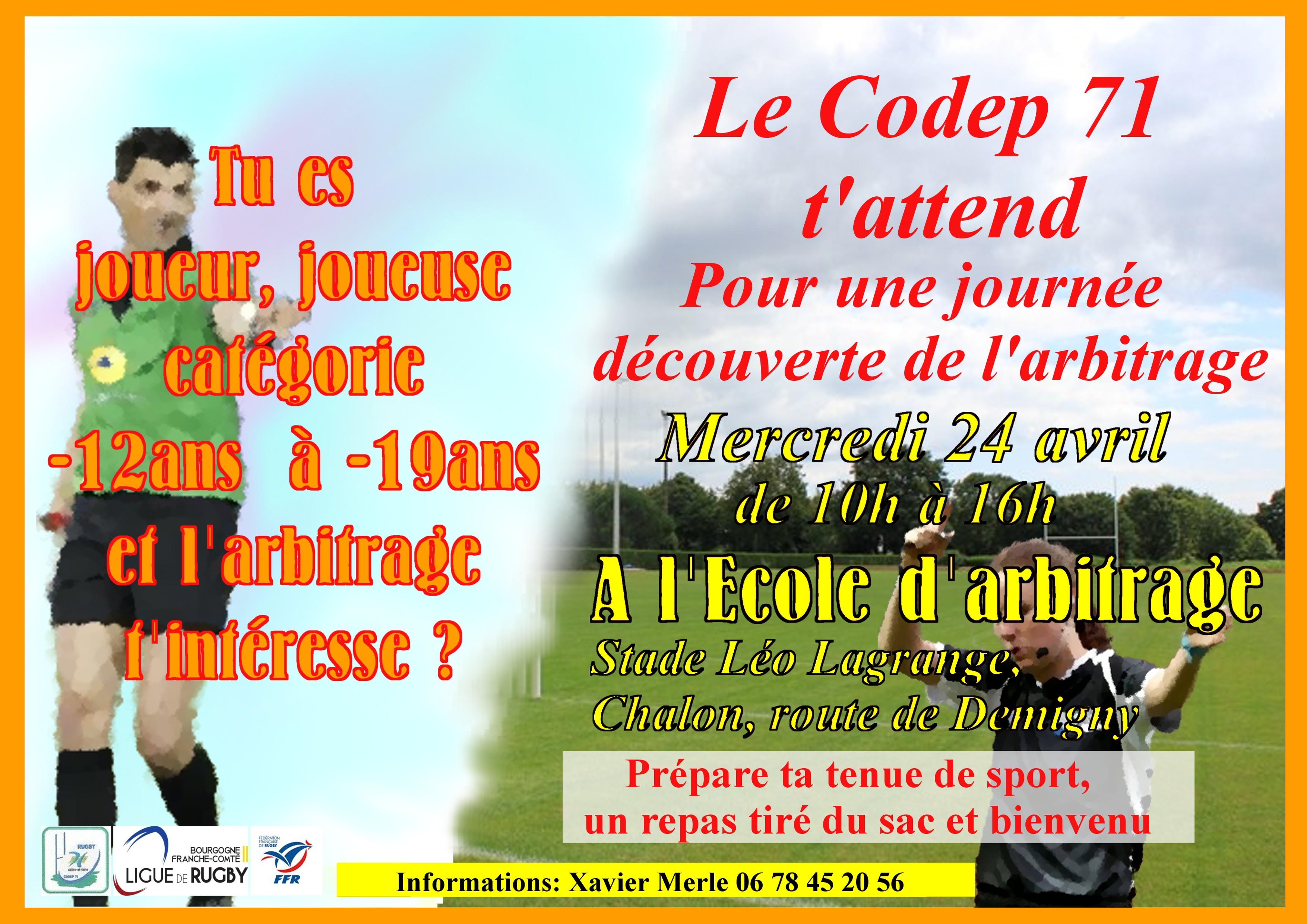 Affiche CODEP 71 Arbitrage