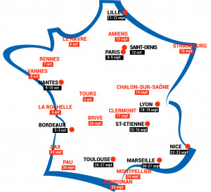 CARTE DE FRANCE TRAIN